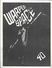 """Multimedia Fanzine -- """"Warped Space #40"""" -- 1979"""