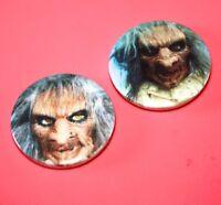 set of 2 terrahawks Zelda children TV Witch button pin badges