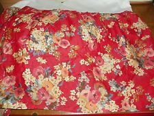 "RALPH LAUREN ""MADELINE""100% COTTON-RED- SATEEN QUEEN BEDSKIRT-15""-NEVER USED"