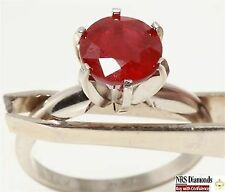 Solitaire White Ruby Fine Rings