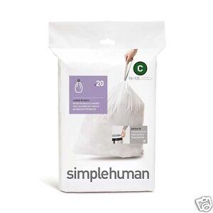 Simplehuman Rubbish Bin Liners Bags Size A B C D E F G H J K L M N P Q R T U V