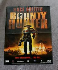 Mace Griffin Bounty Hunter Madden 2003 EA Football Video Game PROMO Poster VF