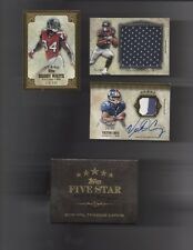 2012 Topps Five Star Lot Of 3 NFL Serial Numbered Cards With Original Box
