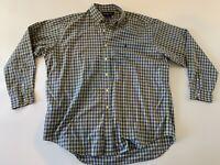 POLO RALPH LAUREN Men's Blake Blue Yellow Plaid L/S Button Front Shirt XL