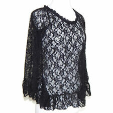 JAYRO white Japan Gothic Lolita Victorian Lace Bell Sleeve Blouse Top sz 2 /4480