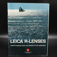 Genuine Leica R-Lenses Sailboat Catalog       C49830