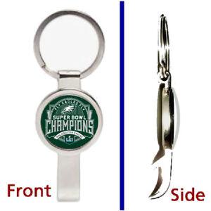 Philadelphia Eagles Super Bowl 52 Champs Pendant Keychain secret bottle opener