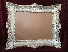 Bilderrahmen Barock Weiß-Gold Gemälde/Spiegel/Fotorahmen 30x40 groß 56X46 Antik