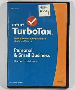 2014 TurboTax Home & Business CD Federal Intuit Turbo Tax Windows/Mac Software