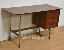 Jack Cartwright for Founders Walnut and Steel Desk Mid Century Modern