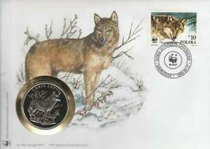 Numisbrief WWF 1986 Poland - Canis Lupus / Wolf (057)