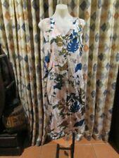 NWOT womens SPORTSCRAFT tank style floral print SILK dress SZ 14