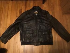 Harley-Davidson Leather Jacket, Brown 2X