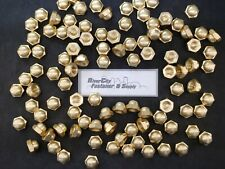 (50) 5/8-11 Brass Acorn / Dome / Cap Hex Nut 5/8 x 11 Nuts 5/8x11 Nut