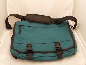 LL Bean Campus Carry All Messenger Over the Shoulder Computer Bag Teal
