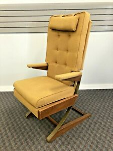 Mid Century Modern ARM CHAIR vintage 50s accent side upholstered rocking lounge