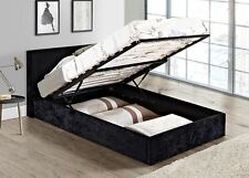 Birlea Berlin Black Crushed Velvet Ottoman Storage Bed Single 3ft 90cm Frame