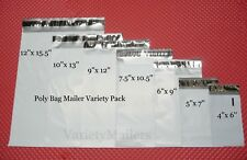 175 Poly Bag Shipping Envelope Variety Pack 7 Sizes 2.5 Mil Self-Sealing Mailers