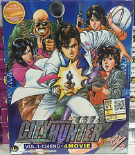 Anime DVD: City Hunter Complete (1-134 End)+4 Movie+OST_Good Eng Sub_FREE SHIP'