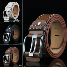 New Men Retro PU Waistband Waist Accessories Business Leather Belt Fashion Gift