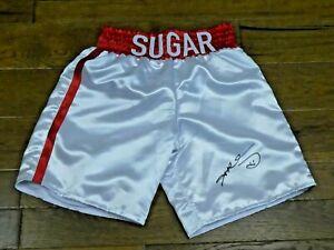 Sugar Ray Leonard HOF Boxer Signed Boxing Trunks with PSA/DNA COA
