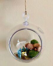 Ram with Pink Tree Upcycled Succulent Terrarium Sheep Planter Hanging Globe Kit