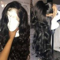 Loose Body Wavy Full Lace Wigs 8A Brazilian Remy Human Hair 360 Lace Front Wig #