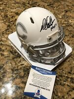 Richard Dent Signed ICE Alternate Riddell Mini Helmet Beckett COA W/ Inscription