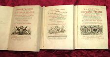 Libro Dissertazioni Sopra la Storia di Pisa Flaminio Dal Borgo 1761 1^ Edizione