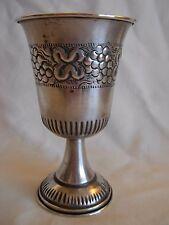 VINTAGE 800 SILVER KIDDUSH CUP - 56 grams - JEWISH JUDAICA