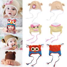 Newborn Baby Crochet Hats Infant Girls Boy Knit Beanie Photo Photography Outfits