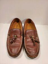Cabelas Brown Leather Boat, Loafers, Tassel Men's Shoes  Size 11.5W Slip On