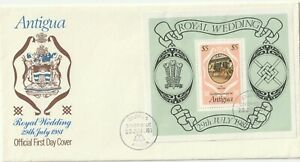 1981 Antigua FDC cover Prince Charles and Lady Diana Wedding