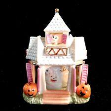 Lenox Haunted House Music Box w/ Carousel Porcelain Halloween Ghosts & Pumpkins