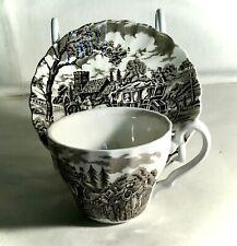 Myott Brown Royal Mail Demitasse Cup & Saucer