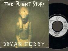"""BRYAN FERRY The Right Stuff SINGLE 7"""" Related Roxy Music 1987 BRIAN FERRY"""