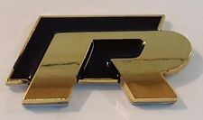 24ct GOLD PLATED VW R-LINE BLACK REAR SIDE BOOT BADGE 24K