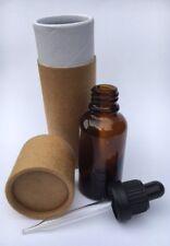 24 X 30ml Amber Glass Dropper Bottle & Kraft Tube