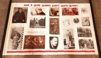 Br) Original Sovietunion Lenin Poster Plakat Propaganda 103x67cm
