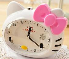New Cute Hello Kitty Desk Analog Swing Alarm Clock Kids Room Clock Gifts Pink