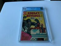KONGA'S REVENGE 1 CGC 9.0 WHITE PAGES TROJAN QUEEN CHARLTON COMICS