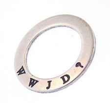 What Would Jesus Do Affirmation Circle Pendant Sterling Sunwest Silver WWJD New