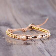 Mother of Pearl Metad Beads Wrap Bracelets Weaving Friendship Bracelet Bohemia