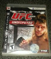 UFC 2009 UNDISPUTED - PS3 - MISSING MANUAL - FREE S/H - (S)