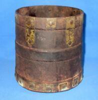 Antique Collectible Solid Iron Tribal Primitive Kitchen Grain Measurement Pot