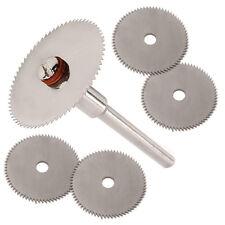 6pc HSS Scie Circulaire Disque Kit s/'Adapte Dremel Mini Perceuses outils rotatifs lame de coupe