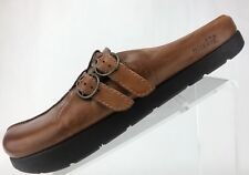 Earth Kalso Mules Dharma TStrap Negative Heel Brown Shoes Womens Size US 7 B
