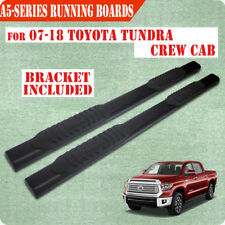 """For 07-19 TOYOTA Tundra Crew Max 5"""" BLK Running Board Nerf Bar Side Step A"""