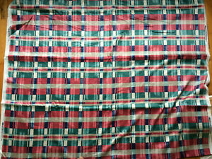 VTG Waverly Fabric Combed Cotton Glosheen Plaid with a Twist Kaleidoscope 3 YDs