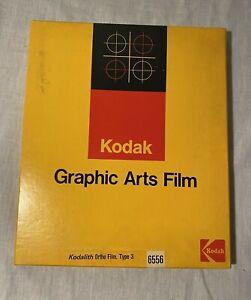 Vintage Kodak Kodalith Ortho Film Type 3 (10x12) Qty 30+ Sheets